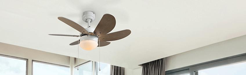 Ventilatori a soffitto bianche