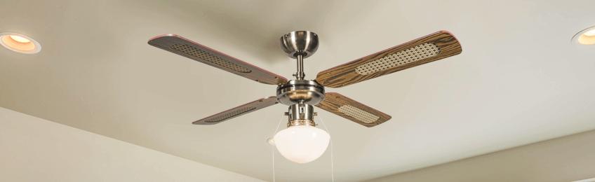 Ventilatori a soffitto in legno