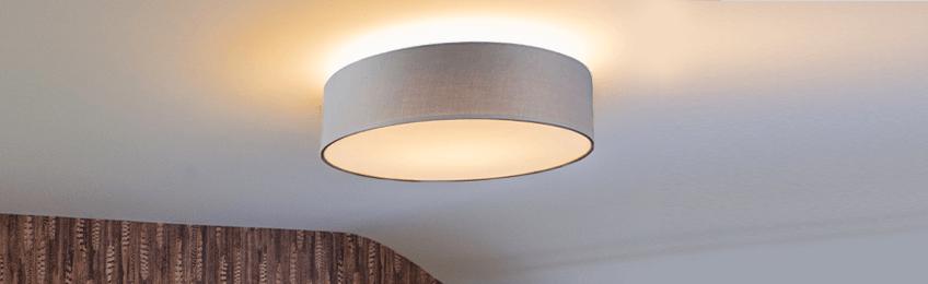 Lampade a soffitto in tessuto