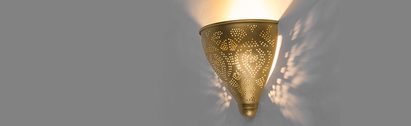 Lampada da parete in oro/ottone