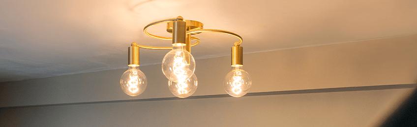 Lampade da soffitto in oro / ottone