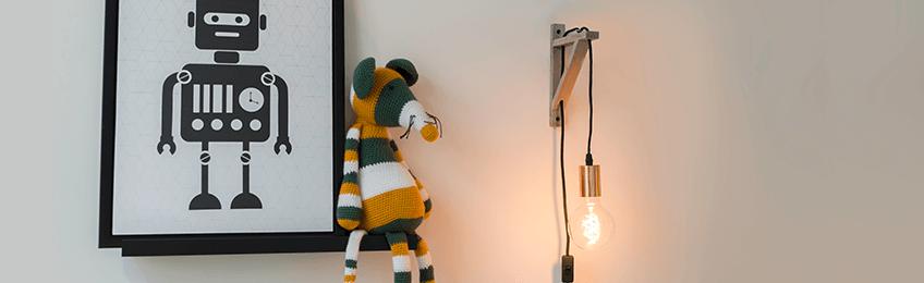 Lampade da parete in legno