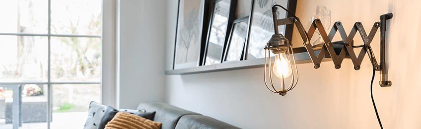 Lampade da parete in metallo