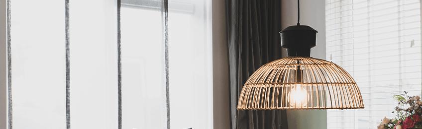 Lampade a sospensione di bambù