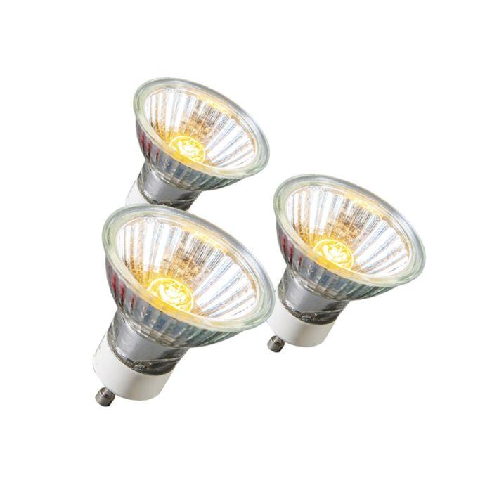 Confezione-3-lampadine-alogene-GU10-18W-95LM-230V