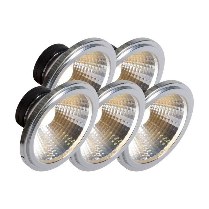 Confezione-5-lampadine-AR111-a-LED-COB-7W-24°-560LM