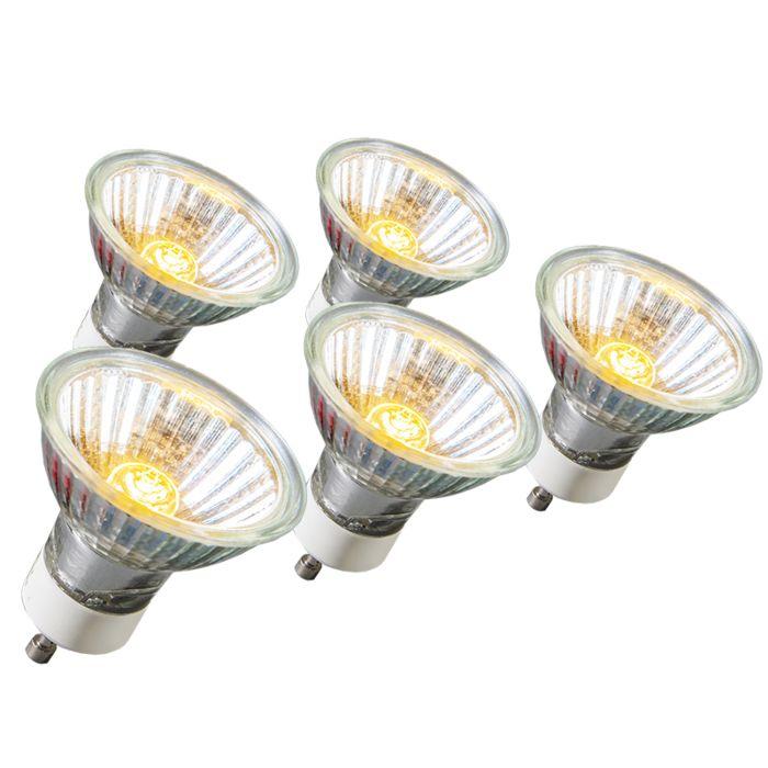 Confezione-5-lampadine-alogene-GU10-18W-95LM-230V