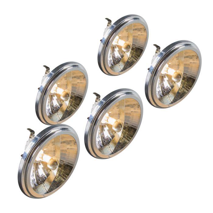 Set-of-5-G53-QR111-Halogen-Bulb-50W-12V