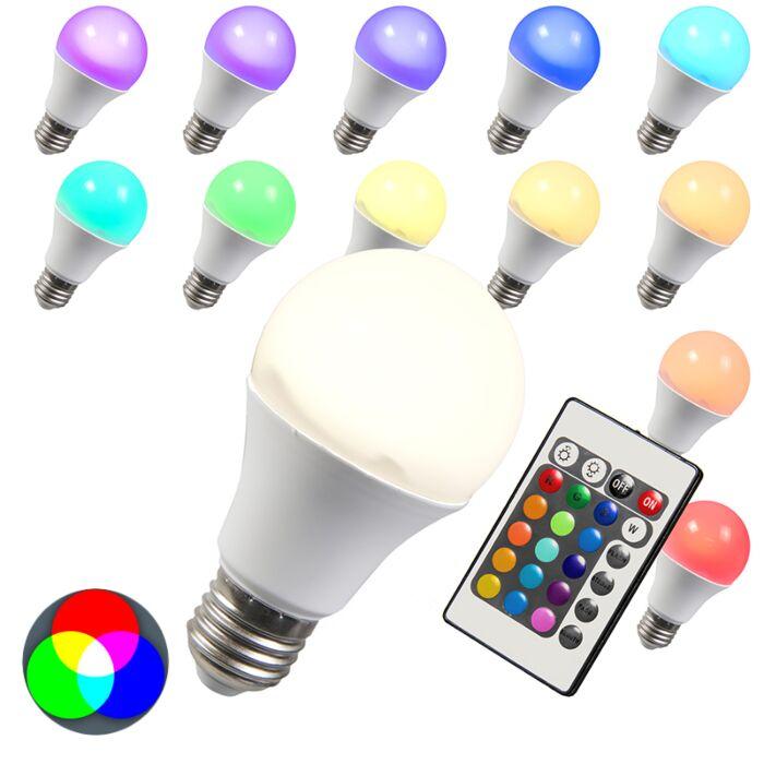 Lampadina-a-LED-E27-RGB-10W-bianco-caldo