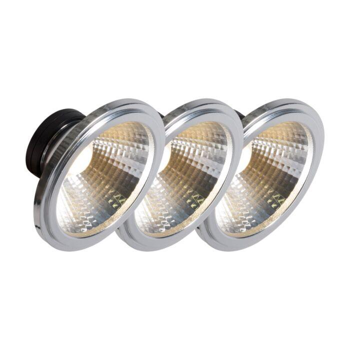 Confezione-3-lampadine-AR111-a-LED-COB-7W-24°-560LM