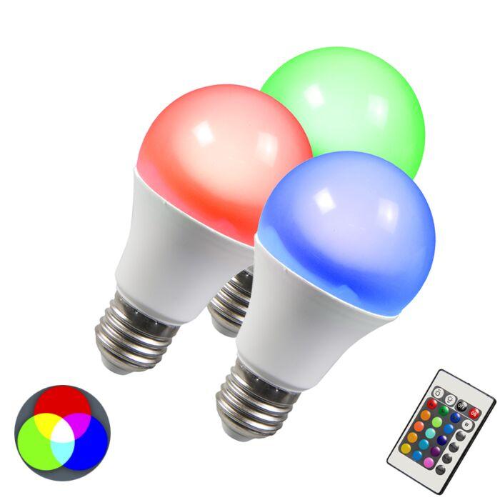 Set-di-3-lampadine-E27-LED-RGB-10W-bianco-caldo