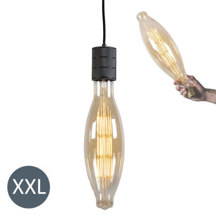 Lampada-a-sospensione-ELIPS-nera-con-lampadina-regolabile-LED