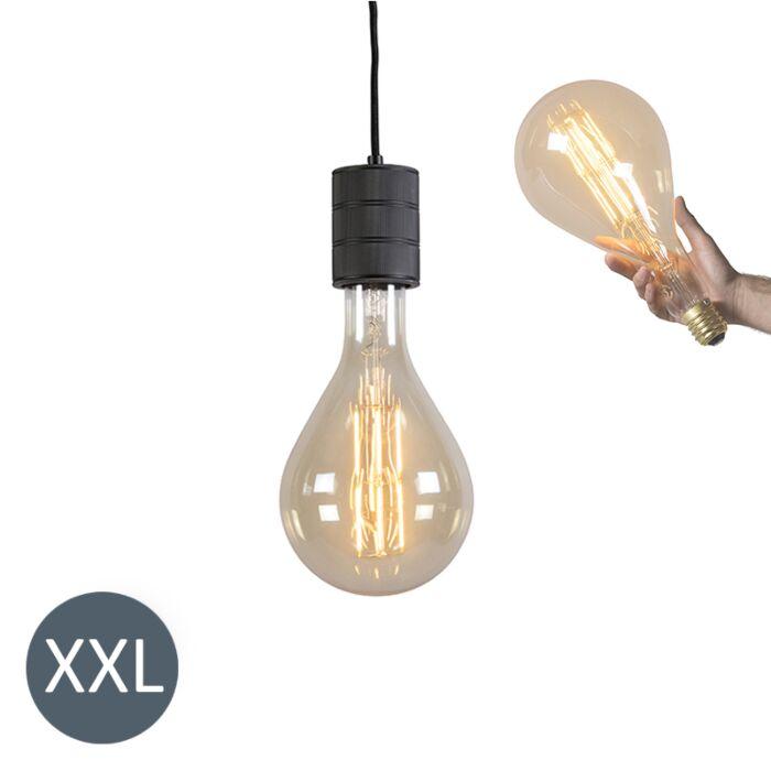 Lampada-a-sospensione-SPLASH-nera-con-lampadina-LED-regolabile