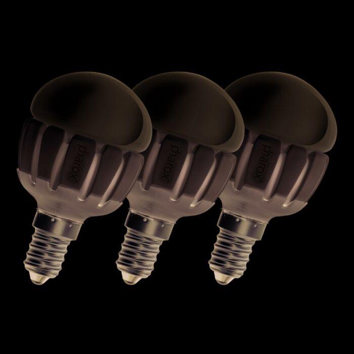 Set-of-3-E14-LED-Pharox-P45-5W-200LM