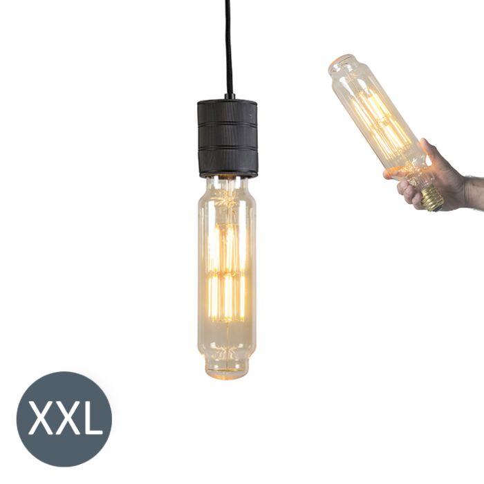 Lampadina-a-sospensione-TOWER-nera-con-lampadina-LED-regolabile