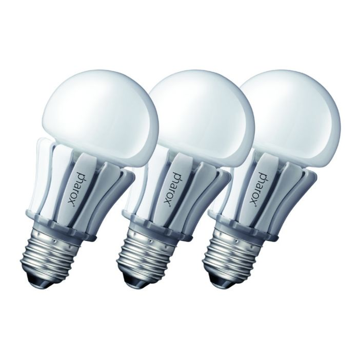 Set-of-3-E27-LED-Pharox-8W-420LM