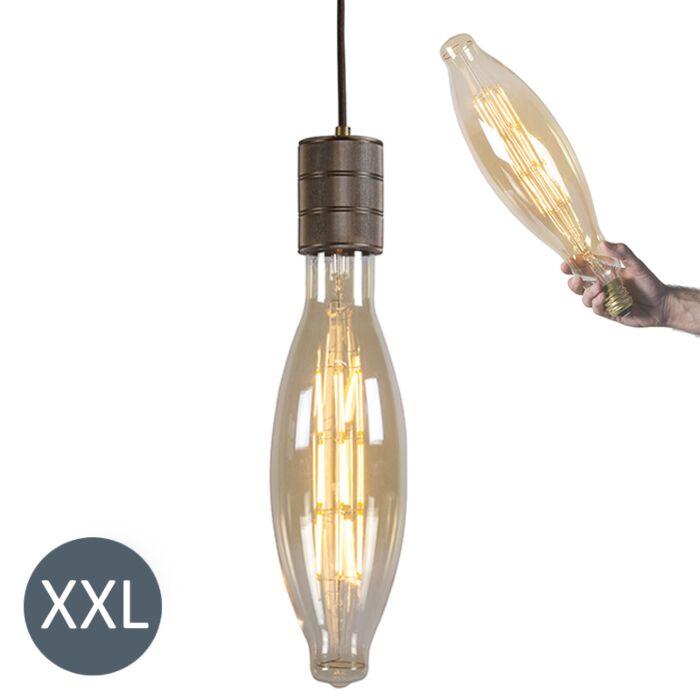 Lampada-a-sospensione-ELIPS-bronzo-con-lampadina-LED-regolabile