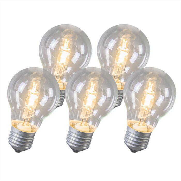 Confezione-5-lampadine-alogene-E27-53W