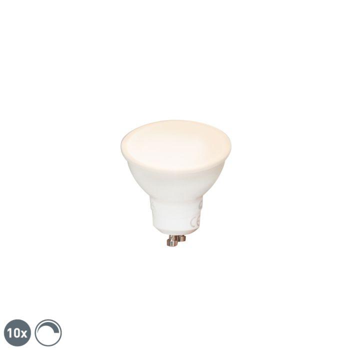 Set-di-10-lampadine-LED-GU10-450lm-2700K-dimm