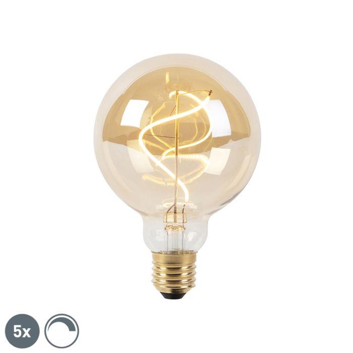 Set-5-lampadine-E27-LED-G95-200lm-2100k-globo-fume-dimm