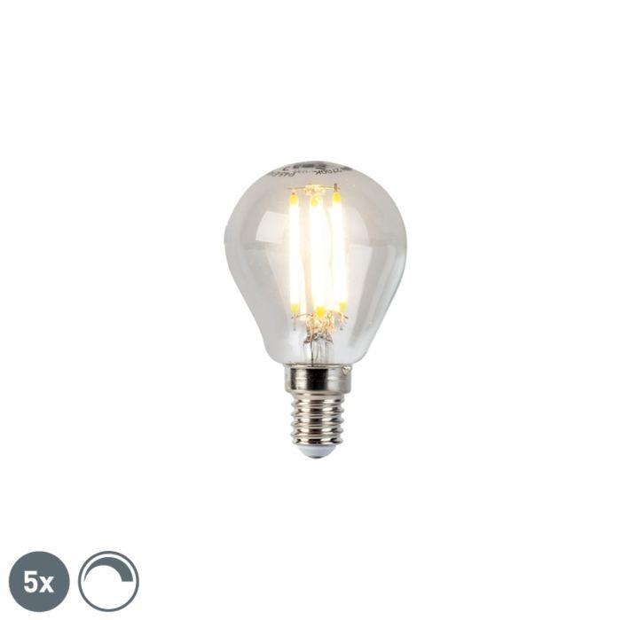 Set-5-lampadine-LED-E14-470lm-2700K-sfera-dimm