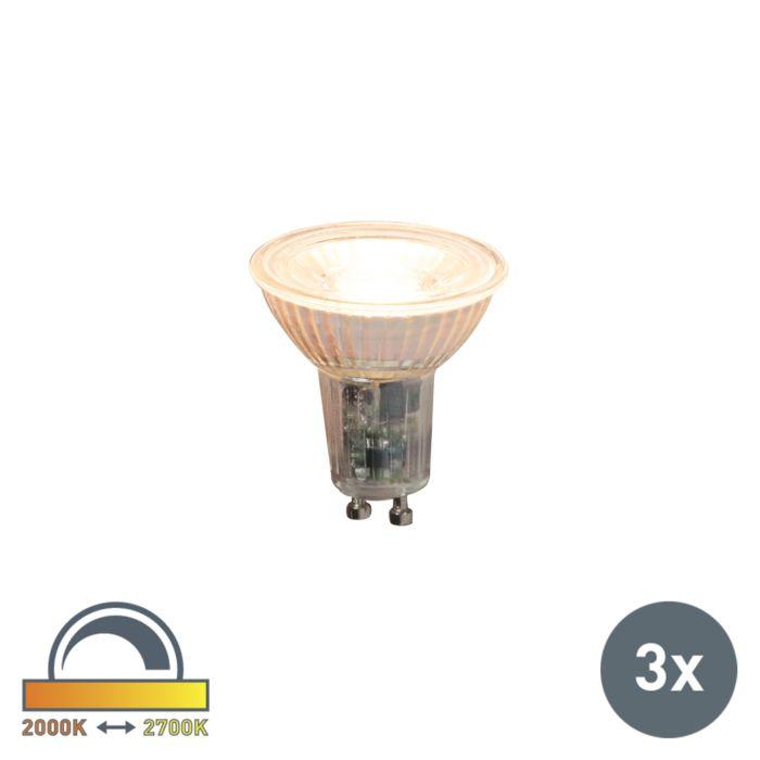 Set-di-3-lampadine-LED-GU10-360lm-dimm-2000--2700-K