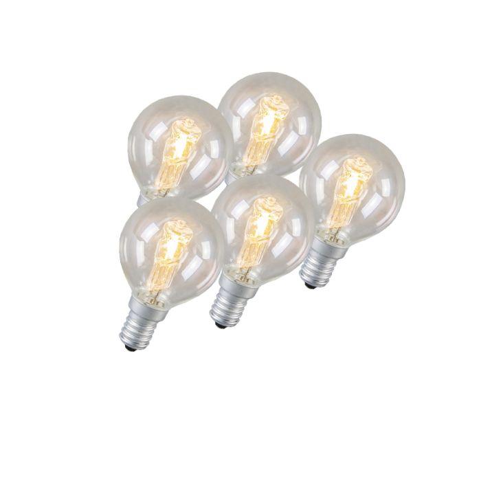 Set-di-5-lampadine-E14-alogene-42W