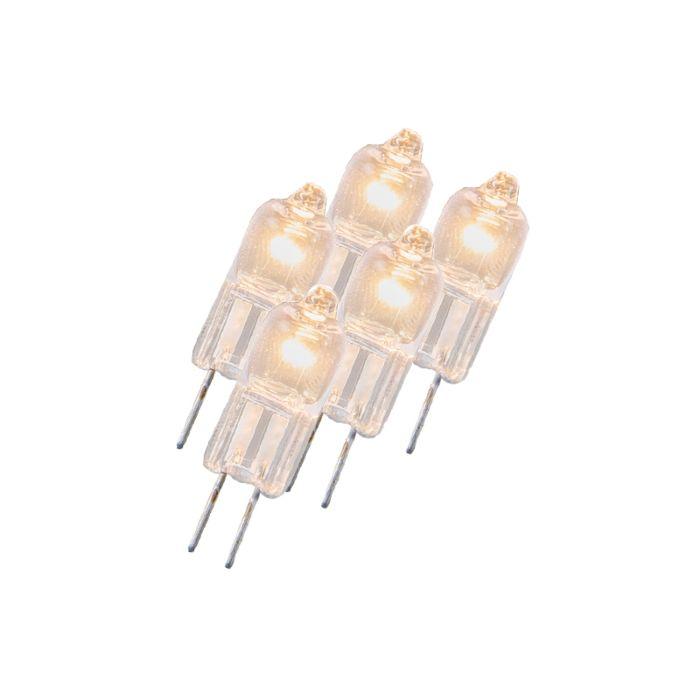 Set-di-5-lampadine-G4-alogene-5W-23LM-bianco-caldo-regolabile