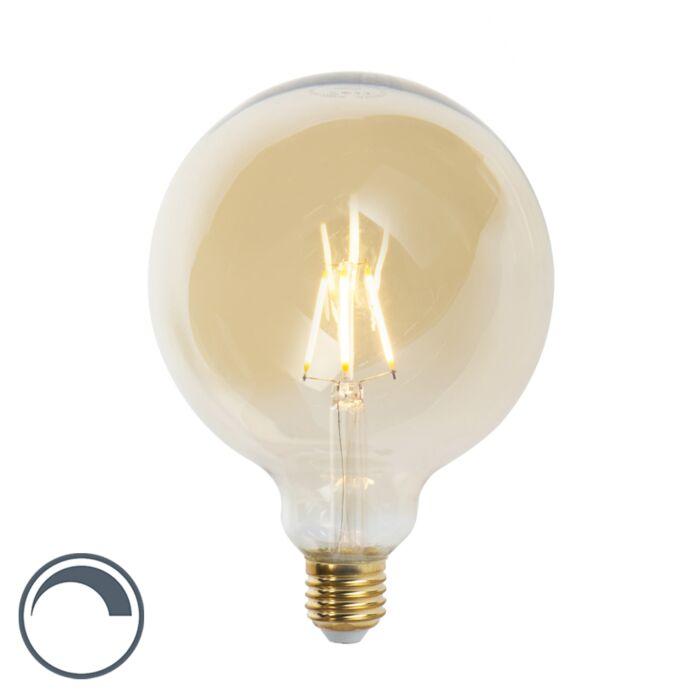 Lampadina-a-filamento-LED-dimmerabile-E27-G125-360lm-2200K---GOLDLINE