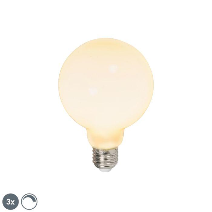 Set-3-lampadine-LED-E27-650lm-2700k-globo-opale-dimmerabili