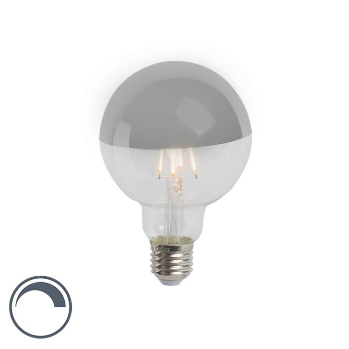 Lampadina-E27-LED-G95-280lm-2300K-argento-globo-dimm