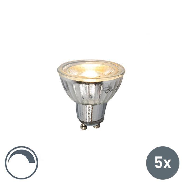 Set-di-5-lampadine-GU10-a-LED-230V-5W-380LM-2700K-dimmerabile