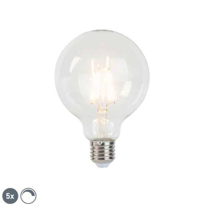 Set-5-lampadine-E27-LED-dimm-G95-470lm-2700K
