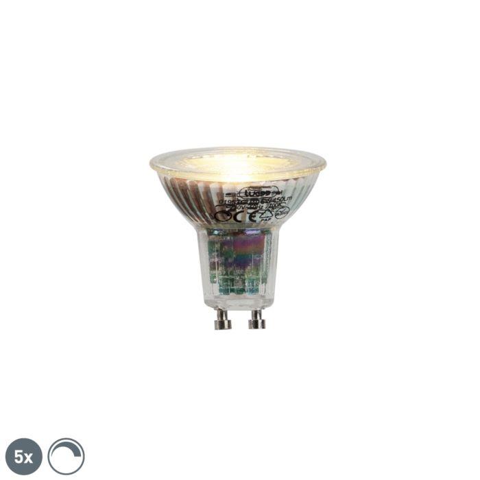 Set-5-lampadine-LED-GU10-450lm-2700k-dimm