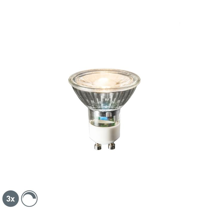 Set-di-3-lampadine-LED-GU10-6W-450lm-2700K-dimm