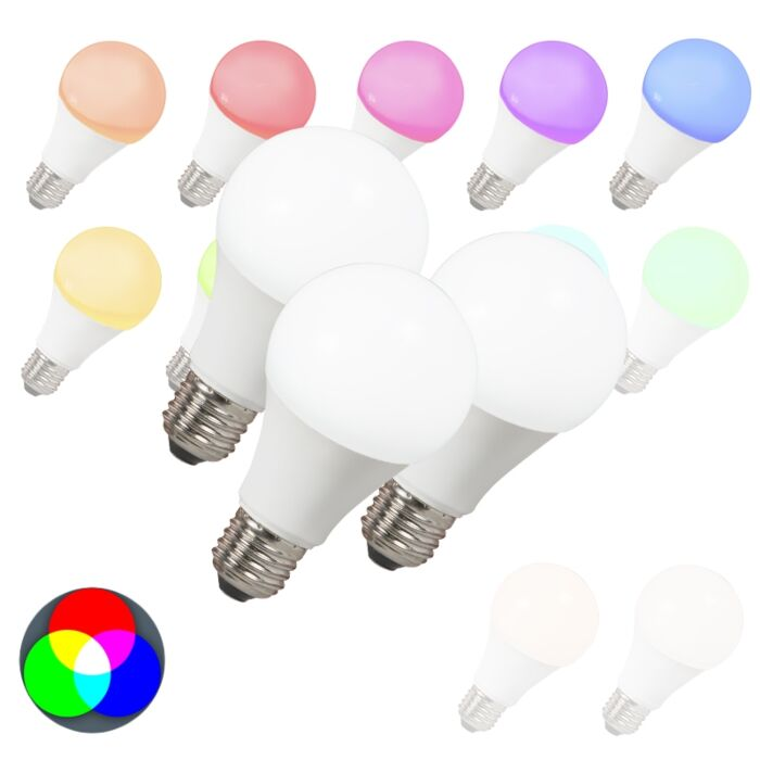 Set-di-3-lampadine-E27-a-LED-SMART-LIGHT-RGB-A60-7W-500LM