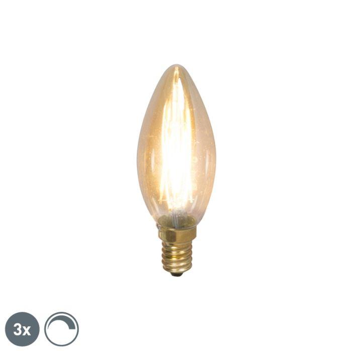 Set-3-LED-E14-200lm-2100K-dimm