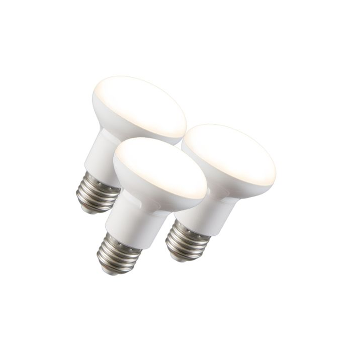 Set-di-3-lampadine-a-LED-con-riflettore-R63-E27-240V-8W-2700K-dimmerabile