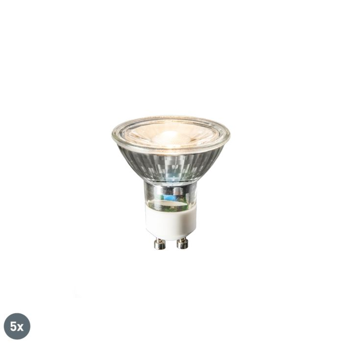 Set-di-5-lampade-a-LED-GU10-COB-3W-230lm-2700K