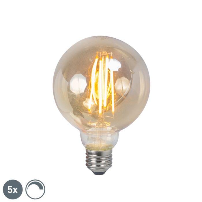 Set-di-5-lampade-a-fumo-dimmerabili-a-filamento-LED-E27-5W-450lm-2200K