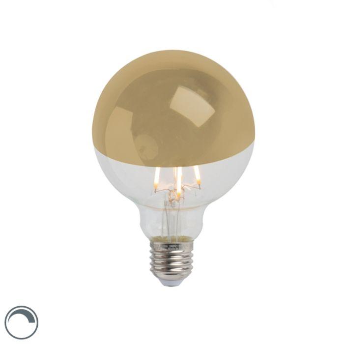Lampadine-E27-LED-G95-280lm-2300K-specchio-oro-dimm