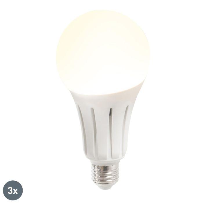 Set-di-3-lampadine-a-LED-B60-18W-E27-bianco-caldo