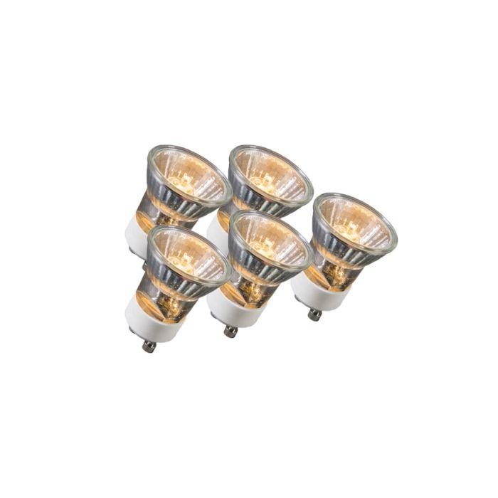 Set-di-5-lampadine-GU10-alogene-35W-400LM-bianco-caldo-dimmerabile