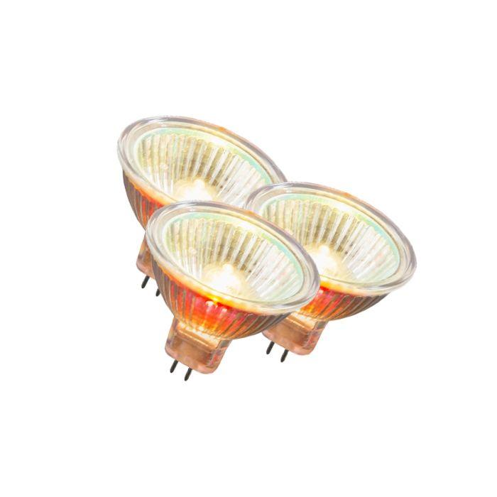 Set-di-3-lampadine-GU5.3-alogene-20W-200LM-bianco-caldo-regolabile