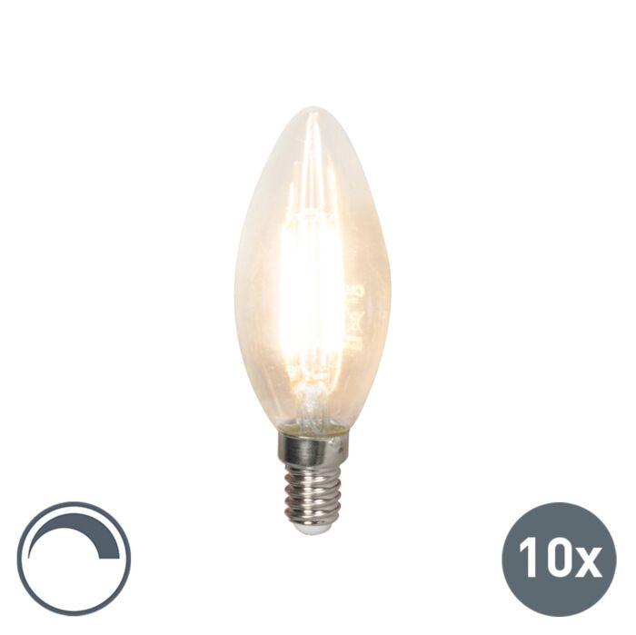 Set-10-lampadine-LED-E14-350lm-2700k-candele-dimm