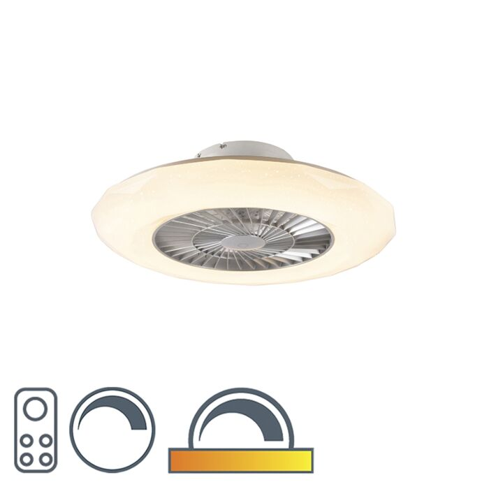 Ventilatore-da-soffitto-argento-LED-effetto-stella-dimm---CLIMA