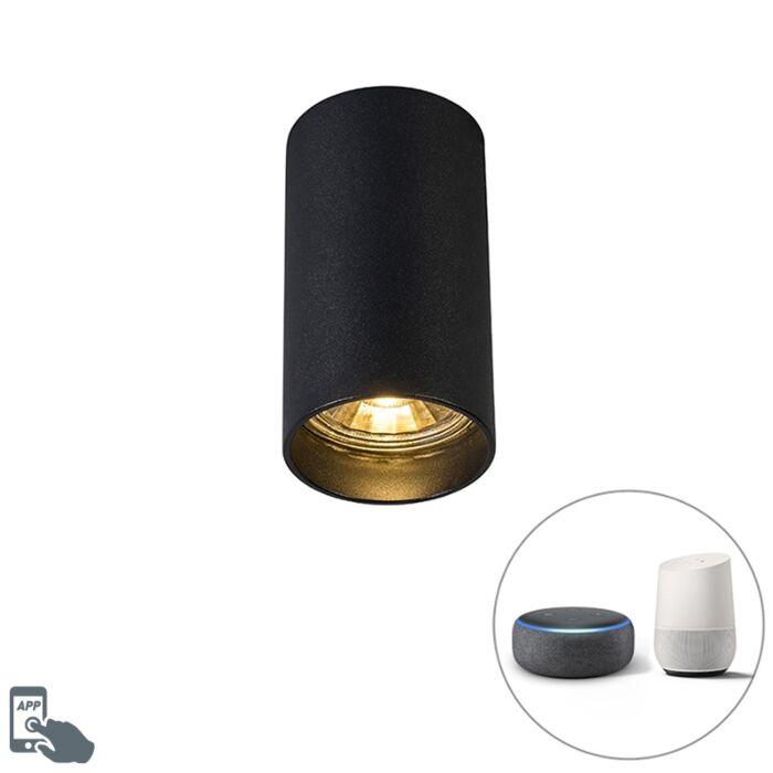 Faretto-moderno-nero-incl.-lampadina-smart-WiFi---TUBA-1