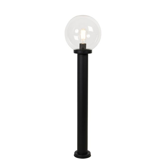 Lampioncino-esterno-nera-vetro-trasparente-IP44-100-cm---SFERA