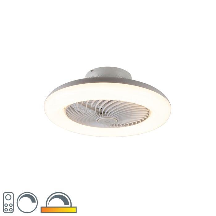Ventilatore-da-soffitto-bianco-LED-dimmerabile---CLIMA
