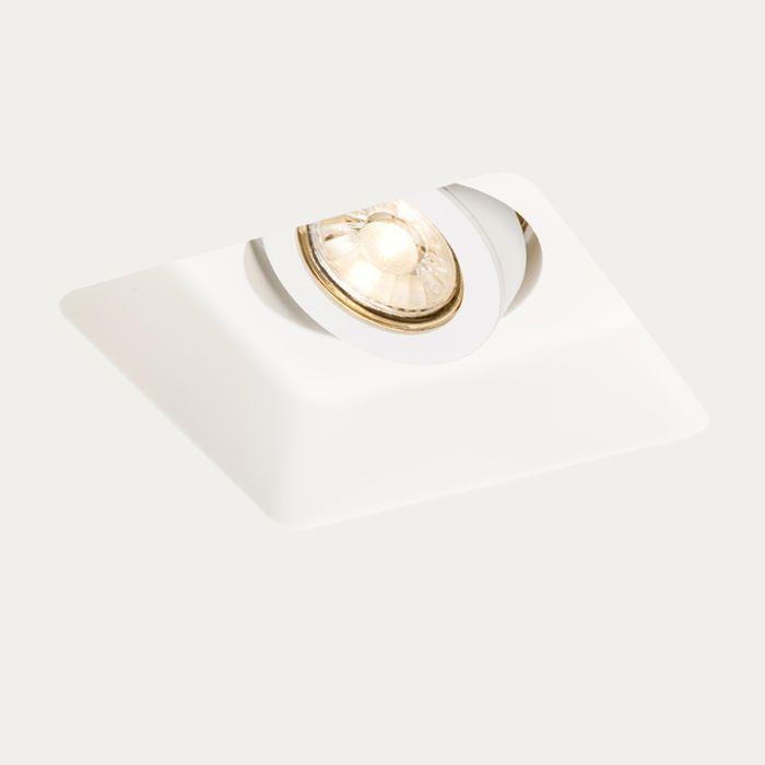 Faretto-da-incasso-bianco-quadrato-15cm-orientabile-GYPSY-Stucco